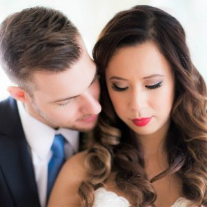 toronto-bridal-style-vintage makeup-red lips-asian bride-chinese-fusion-wedding
