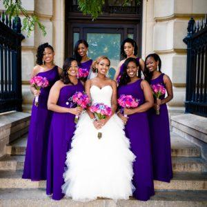 ethiopian-bride-caribbean-wedding-toronto-bridal-makeup-artist-hairstylist-black-bridesmaids-purple-dresses