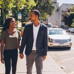 photoshoot-black couple-makeup-toronto-engagement-downtown-engaged