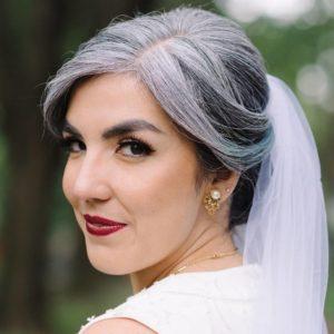 silver-hair-bride-updo-toronto-drake-hotel-wedding-red-lips-vintage