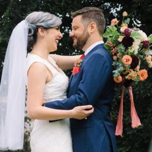 silver-hair-bride-updo-toronto-drake-hotel-wedding-red-lips-vintage-couple-bridal-groom