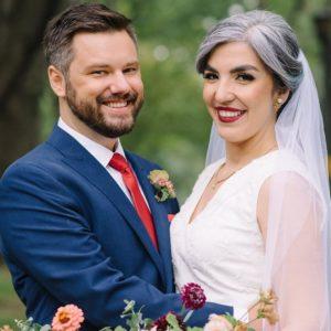 silver-hair-bride-updo-toronto-drake-hotel-wedding-red-lips-vintage-couple-downtown