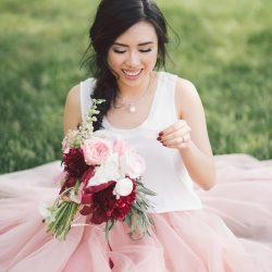 vineyard-engagement-winery-ontario-photoshoot-asian-makeup-hair-tulle skirt